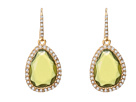 LAUREN Ralph Lauren - FW-Organic Shape Stone With Pave Drop (Olivine/Gold)