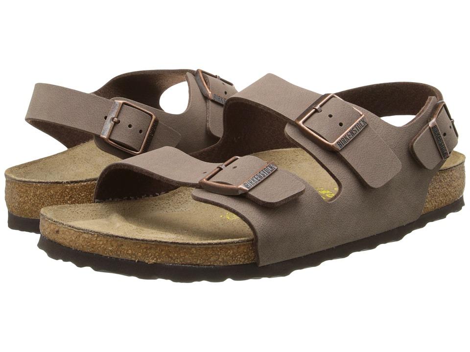 Birkenstock Milano - Birkibuc (Unisex) (Mocha Birkibuc   ) Sandals