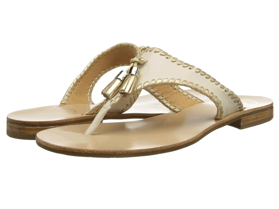 Jack Rogers Alana Bone/Gold Womens Sandals