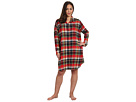 LAUREN Ralph Lauren - Plus Size Town and Country Flannel L/S Sleepshirt (Buchanan Plaid)