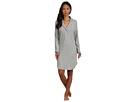 LAUREN Ralph Lauren - Hartford Lounge L/S Shawl Collar Short Lounger (Grey Heather)