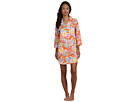 LAUREN Ralph Lauren - The Breakers Classic Notch Collar Sleepshirt (Breakers Floral Orange Multi)