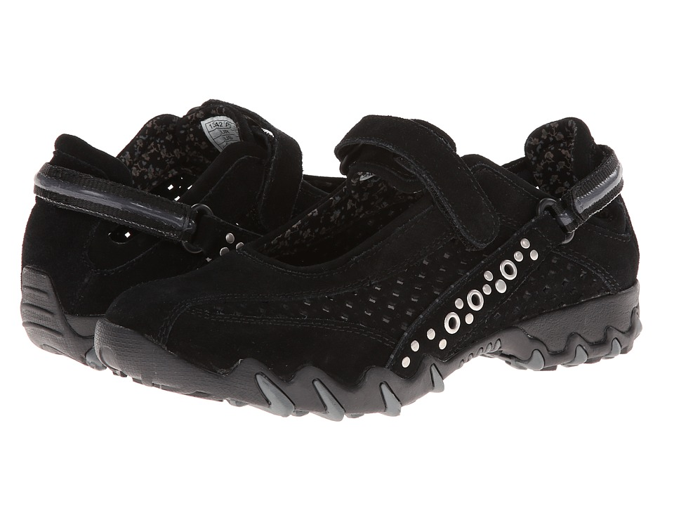 Allrounder by Mephisto - Nimbo Rivets (Black Suede/Suede Perf) Women
