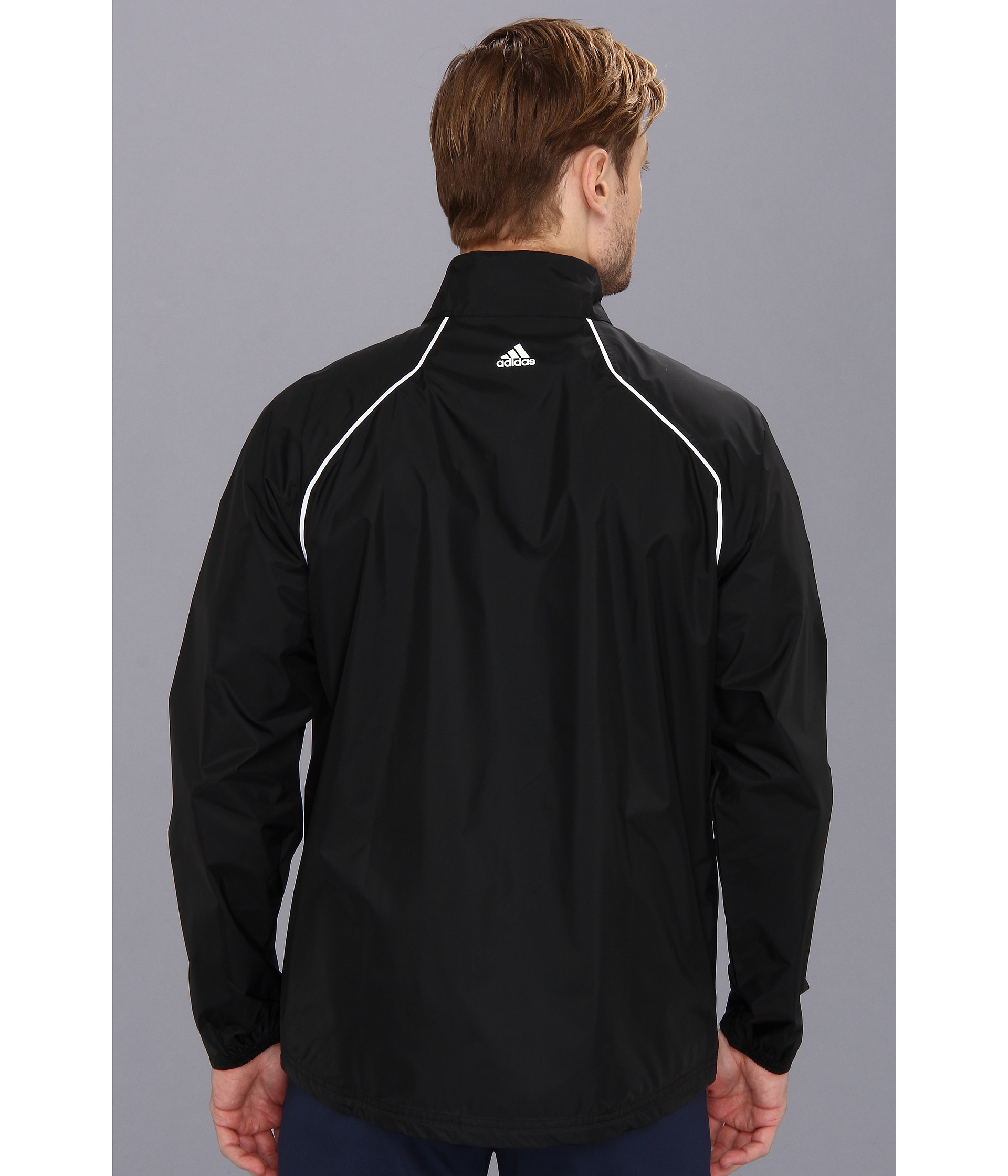 Adidas golf provisional rain jacket black shipped free for Adidas golf rain shirt