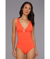 MICHAEL Michael Kors - Linked Solids Shirred Maillot