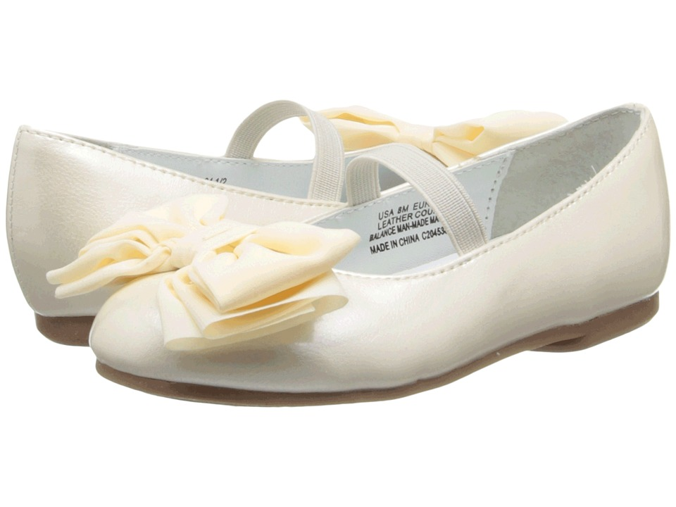 Nina Kids Danica T Toddler/Little Kid Ivory Patent Girls Shoes