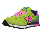New Balance Classics WL515 Green, Pink Shoes