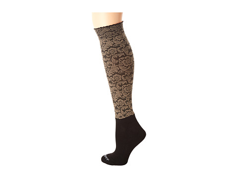 BOOTIGHTS Dakota Vintage Floral Knee High/Ankle Sock - Sand