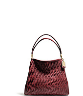 COACH - New Madison Small Phoebe Shoulder Bag In Gathered Twist Leather