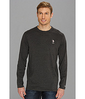 U.S. POLO ASSN. - Heathered Active Long Sleeve Crew Neck