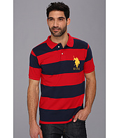 U.S. POLO ASSN. - Wide Striped Polo with Big Pony