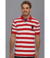 U.S. POLO ASSN. - Striped Polo with Big Pony