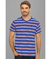 U.S. POLO ASSN. - Striped T-Shirt with V-Neckline