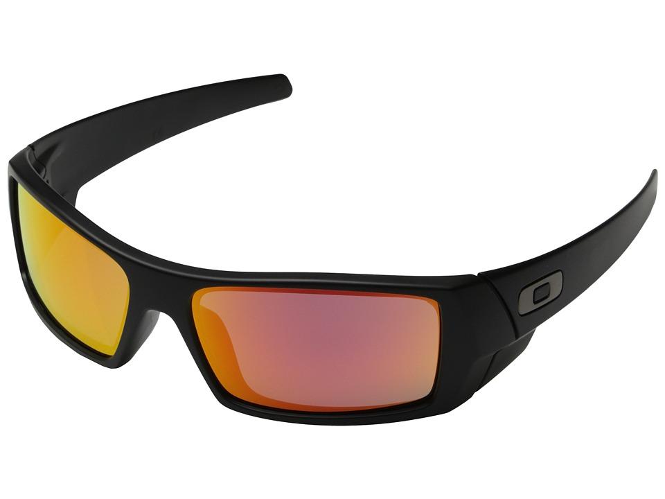 Oakley GasCan (Matte Black w/ Ruby Iridium) Sport Sunglasses