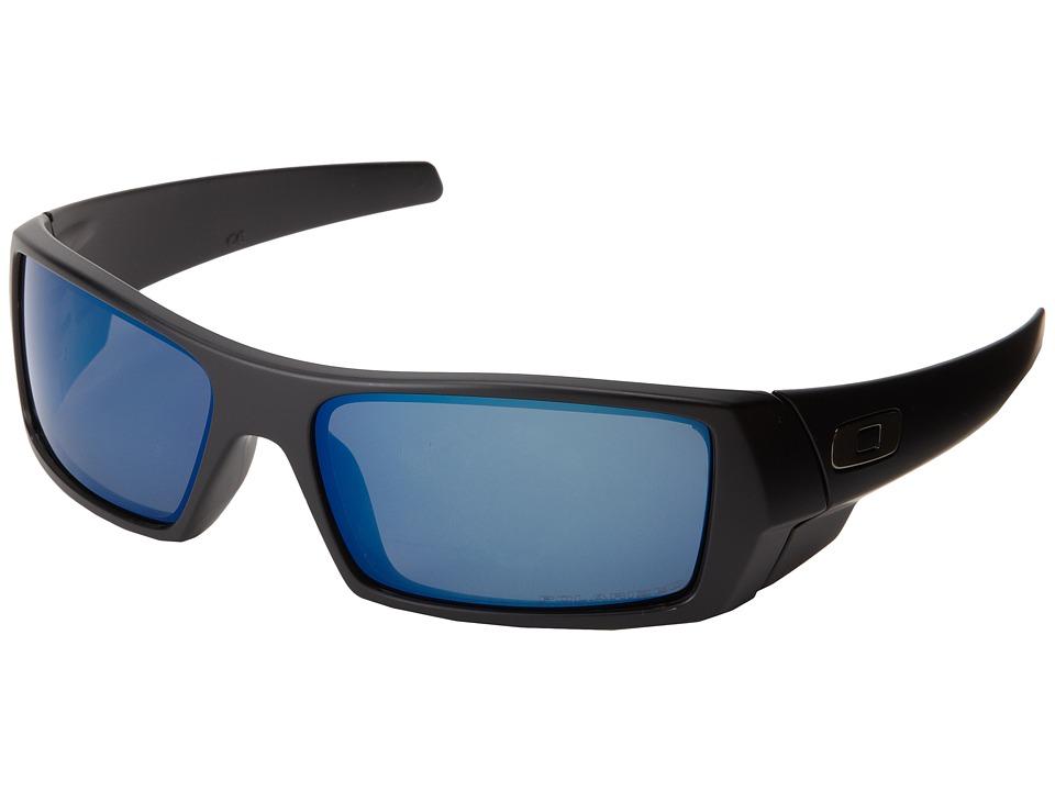 Oakley GasCan (Matte Black w/Ice Iridium Polarized) Sport...