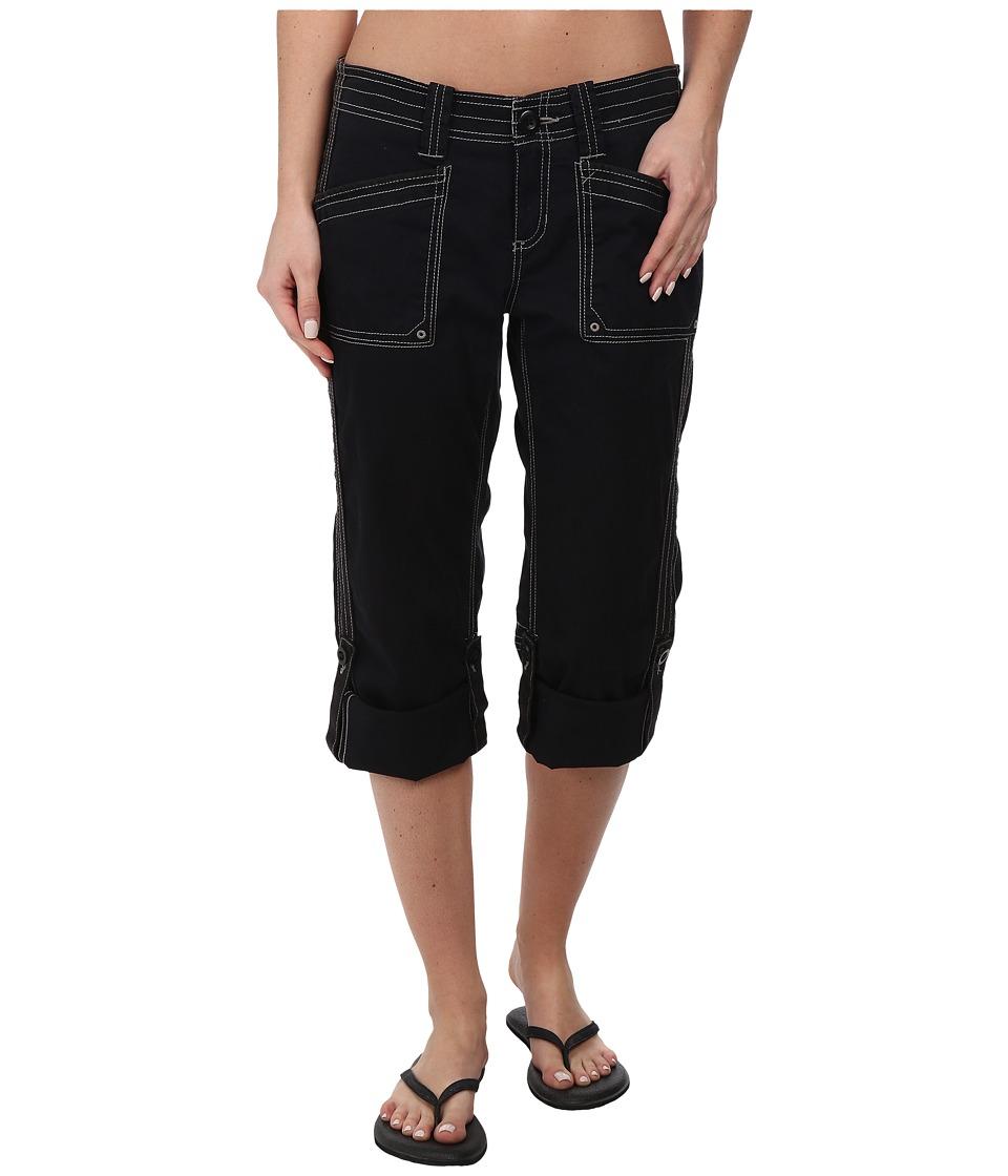 Aventura Clothing Arden Standard Rise Capri Black Womens Capri