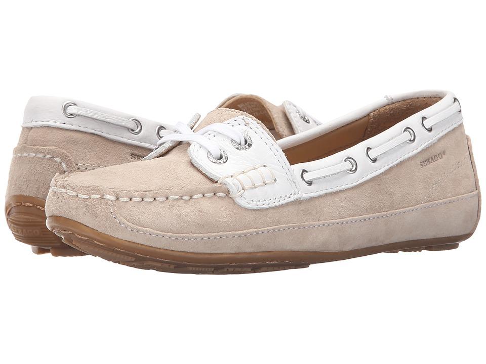 Sebago Bala Taupe Suede/White Womens Slip on Shoes