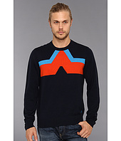 Original Penguin - L/S Crew Neck Sweater w/ Chevron Pattern