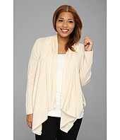 DKNY Jeans - Plus Size Drapey Sweater Cardigan