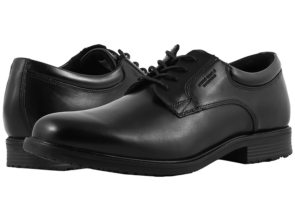 Rockport - Essential Details Waterproof Plain Toe Oxford (Black) Mens Shoes