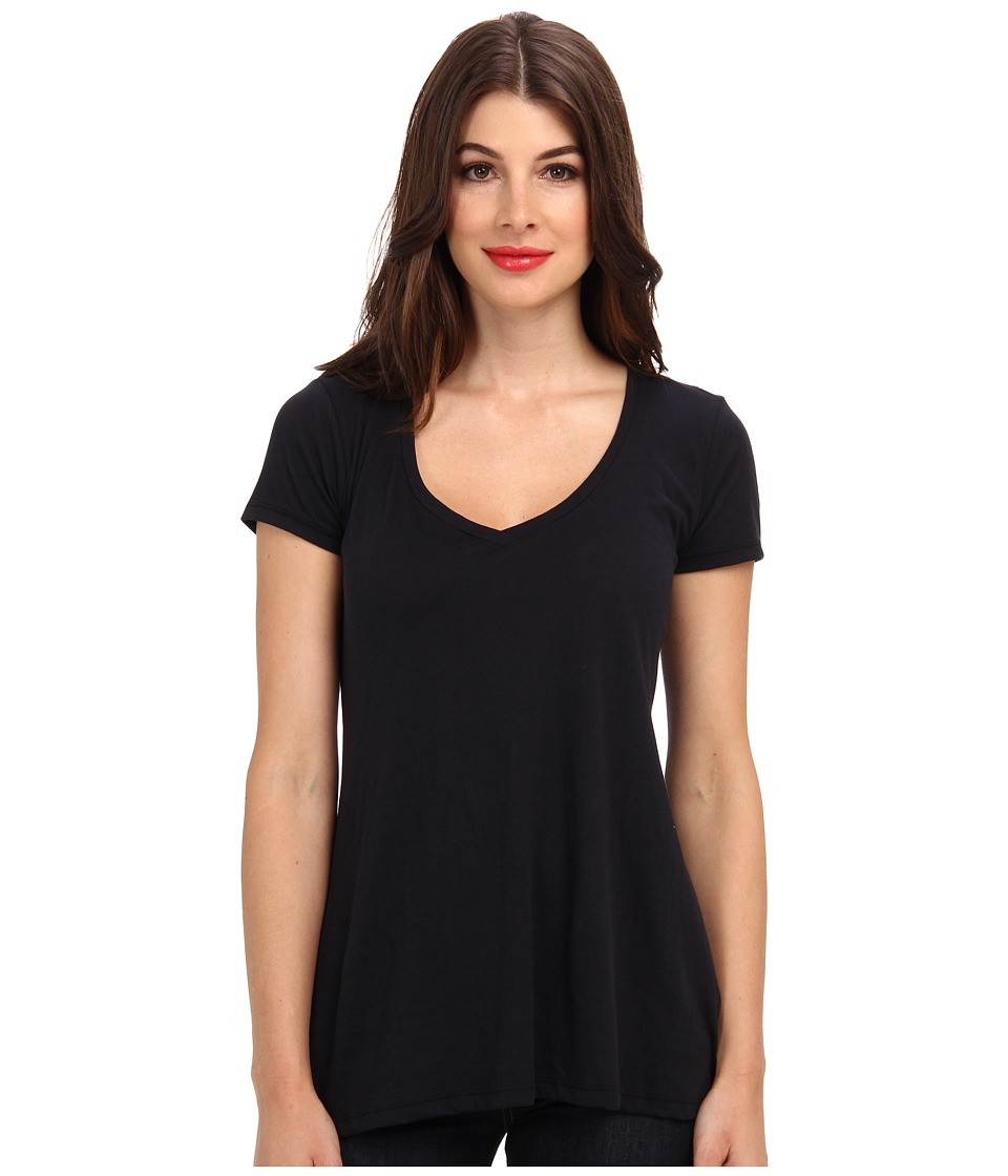 Alternative Basic V Neck Tee Black Womens T Shirt