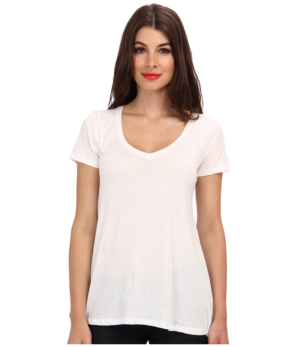 Alternative Basic V Neck Tee White Womens T Shirt