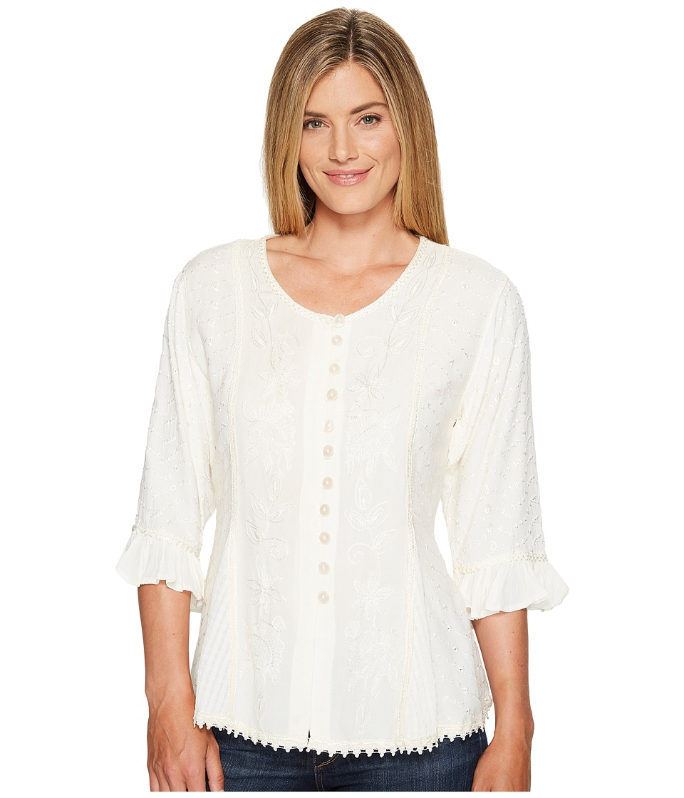 Scully - Honey Creek Cherie Blouse (Ivory) Womens Blouse
