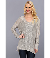 DKNYC - L/S Deep Scoop Neck Pullover w/ Sequins