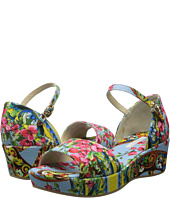 Dolce & Gabbana - Embroidered Scarf Print Canvas Sandal (Little Kid/Big Kid)