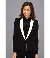 DKNYC - Long Sleeve Notched Collar Blazer w/ Contrast Lapel