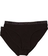 Emporio Armani  Cotton Delight Stretch Cotton With New Logo 2 Pack Brief  image