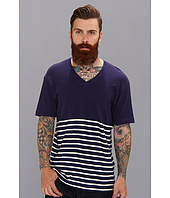 Alternative - Gull Striped V-Neck Tee