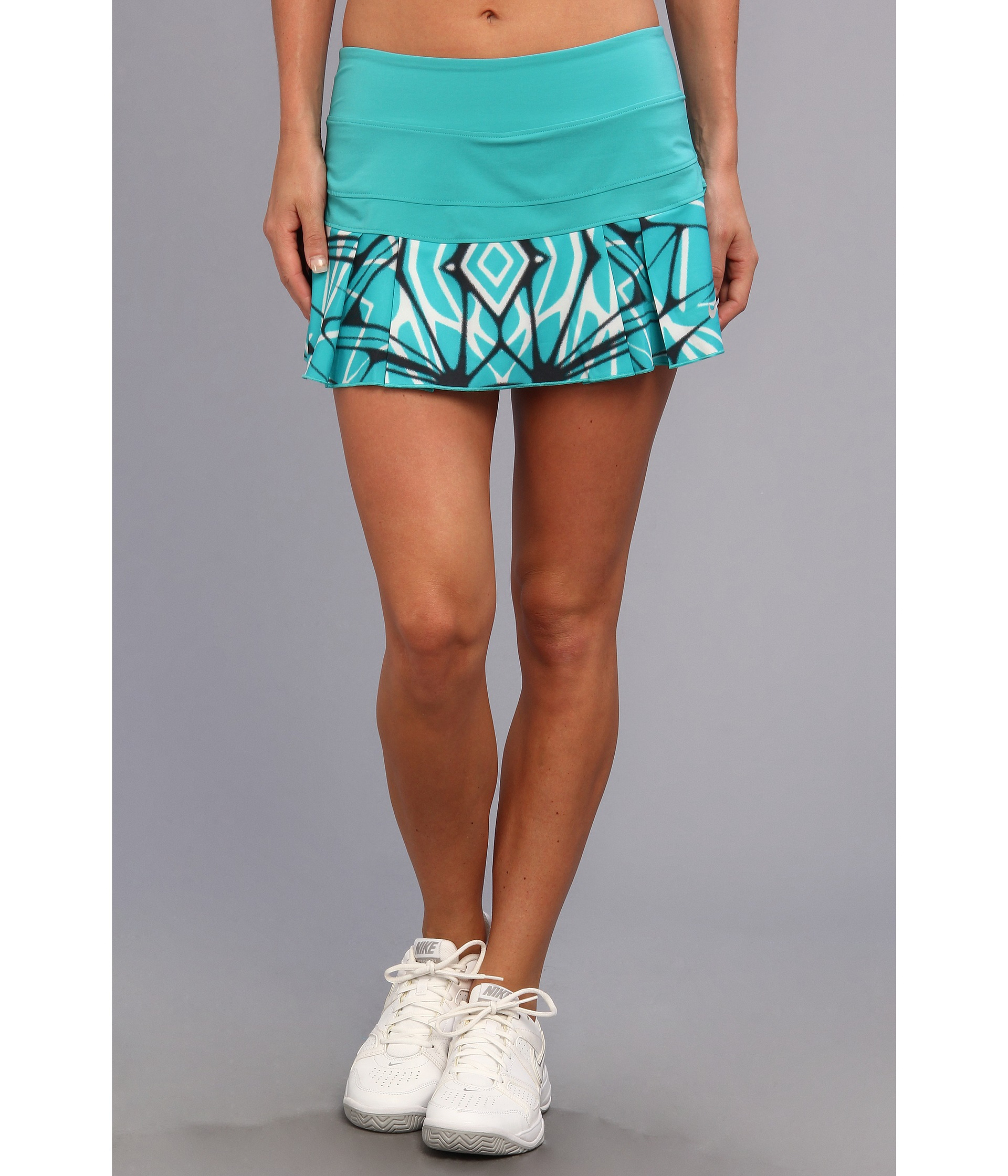 Nike Printed Pleated Woven Skirt Turbo Green/Matte Silver