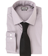 Kenneth Cole New York - Regular Fit Textured Check Dress Shirt