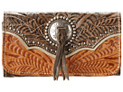 American West Heart Of Gold Tri-Fold Wallet (Tan/Grey-Brown)