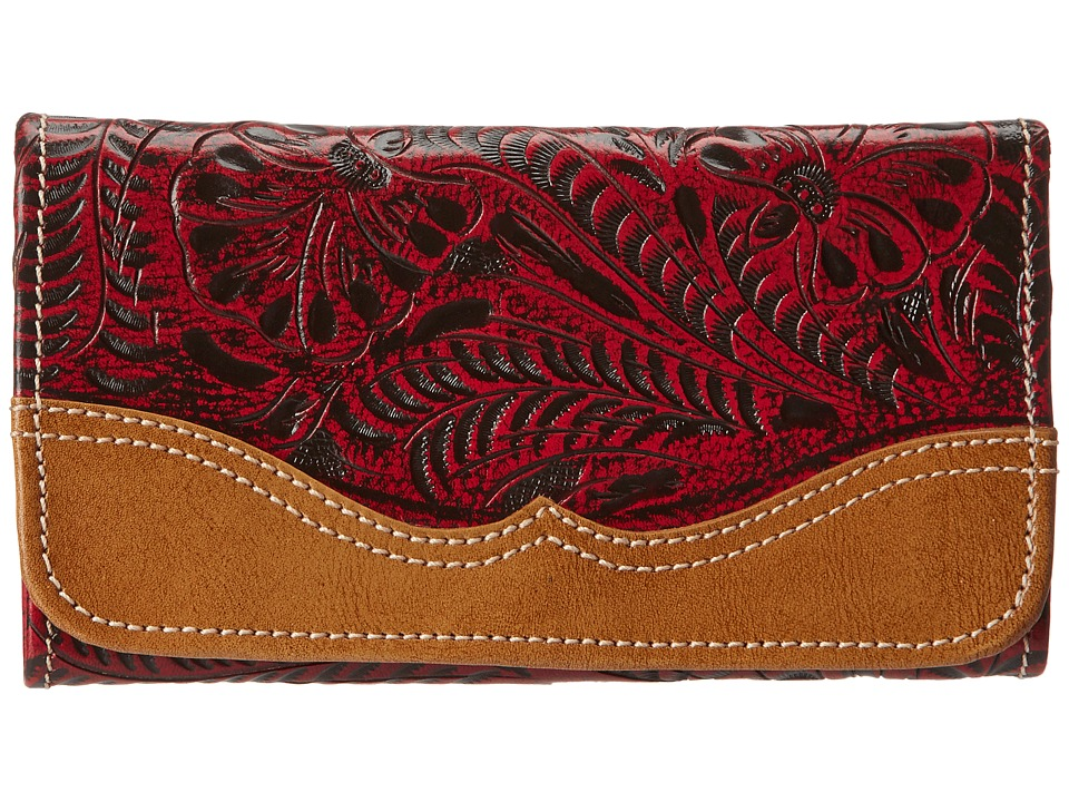 American West - Birds Of A Feather Wallet (Crimson) Wallet Handbags