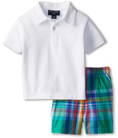 Oscar de la Renta Childrenswear - Baby Pique Polo and Madras Short Set (Infant)
