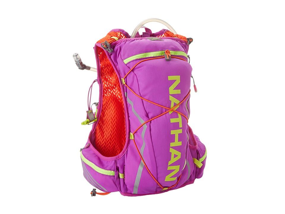 Nathan Vapor Shadow 11L Purple Cactus Flower/Tangerine Tango Running Sports Equipment