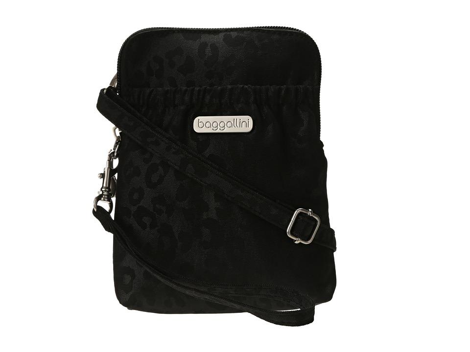 Baggallini - Bryant Pouch (Cheetah/Black) Cross Body Handbags