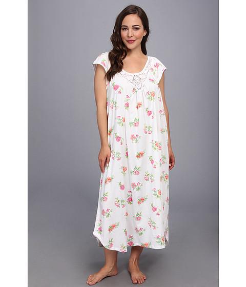 Carole Hochman - Plus Size Long Nightgown (Botanical Roses) - Apparel