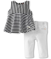 7 For All Mankind Kids - Girls' Skinny w/ Peplum Top (Infant)