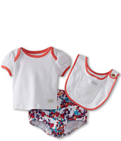 7 For All Mankind Kids - Girls' Diaper Cover w/ Tee & Bib (Infant)