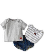 7 For All Mankind Kids - Boys' Diaper Cover w/ Tee & Bib (Infant)