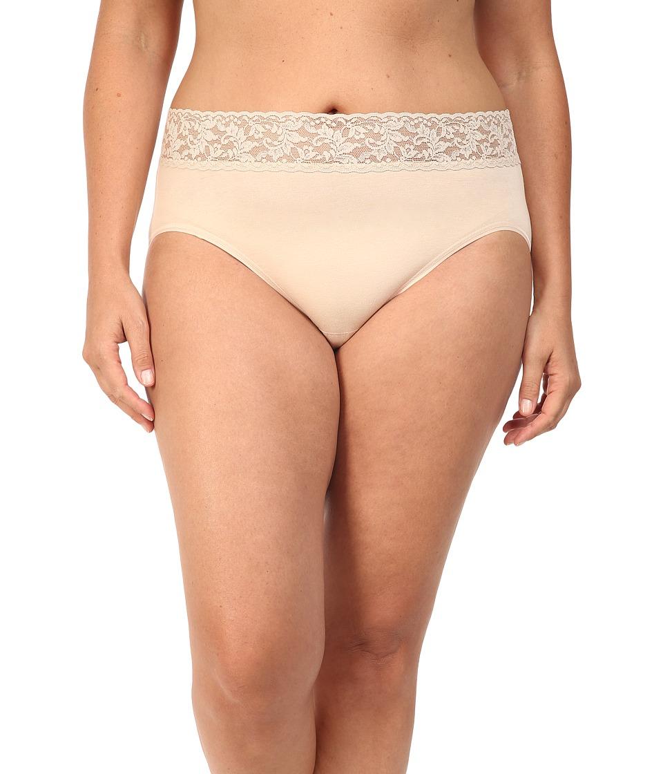 Hanky Panky Plus Size Organic Cotton Signature Lace French Brief Chai Womens Underwear