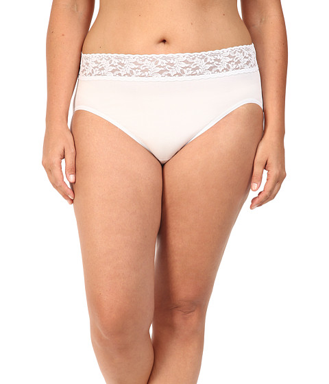 Hanky Panky Plus Size Organic Cotton Signature Lace French Brief