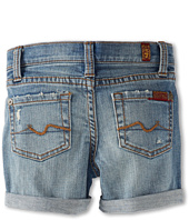 7 For All Mankind Kids - Girls' Mid-Roll Short in Light Destroyed (Big Kids)
