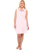 LAUREN by Ralph Lauren - Plus Size Pink Sands Bingham Knits Sleeveless Sleepshirt