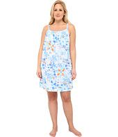 LAUREN by Ralph Lauren - Plus Size Patmos Short Nightgown w/ Smocking