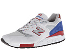 New Balance Classics M998 Grey, Blue, Red Shoes