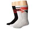Nike - Dri-FIT Crew Sock 3-Pair Pack (White/Black/Light Crimson Black/Light Crimson/Grey Heather/Light)